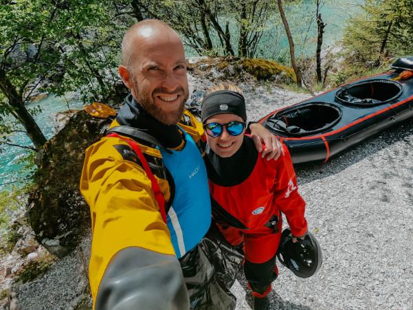 Wir sind Packraft Explorers - Laura und Tom