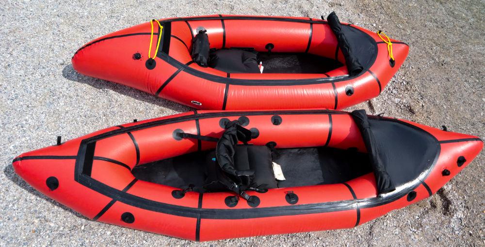 Packraft MRS Nomad S1 und MRS Micro Raft