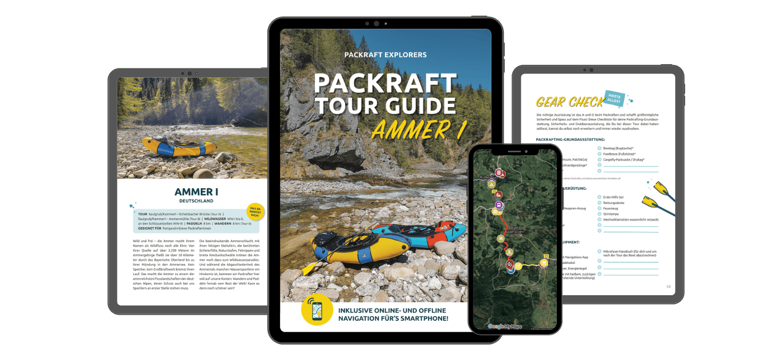 Interaktiver Packraft Tour Guide Ammer I