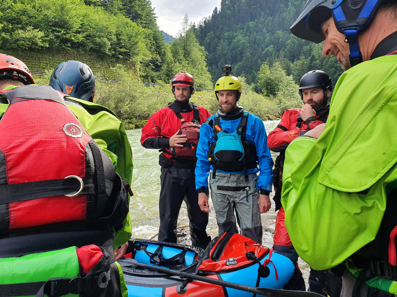 Packraft Wildwasser-Kurs: Equipment