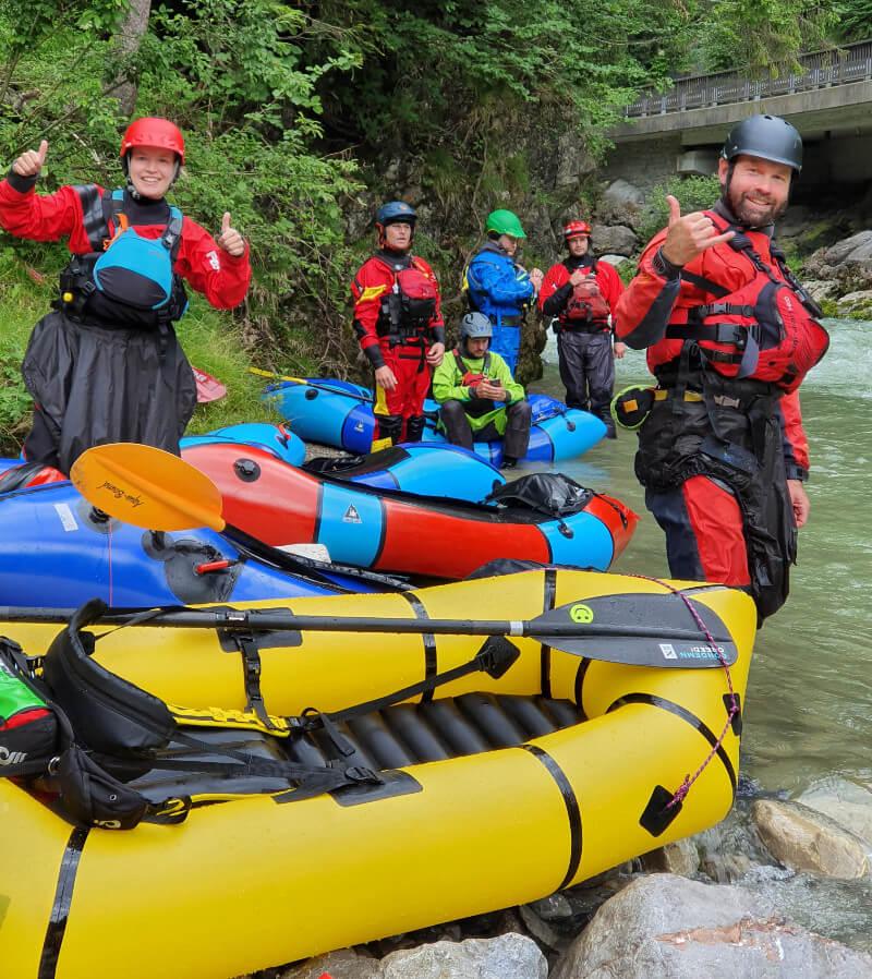 Packraft Wildwasser-Rettungskurs – Tag 1