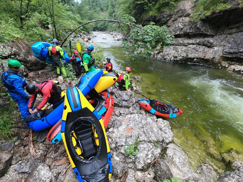 Packraft Wildwasser-Rettungskurs – Tag 2