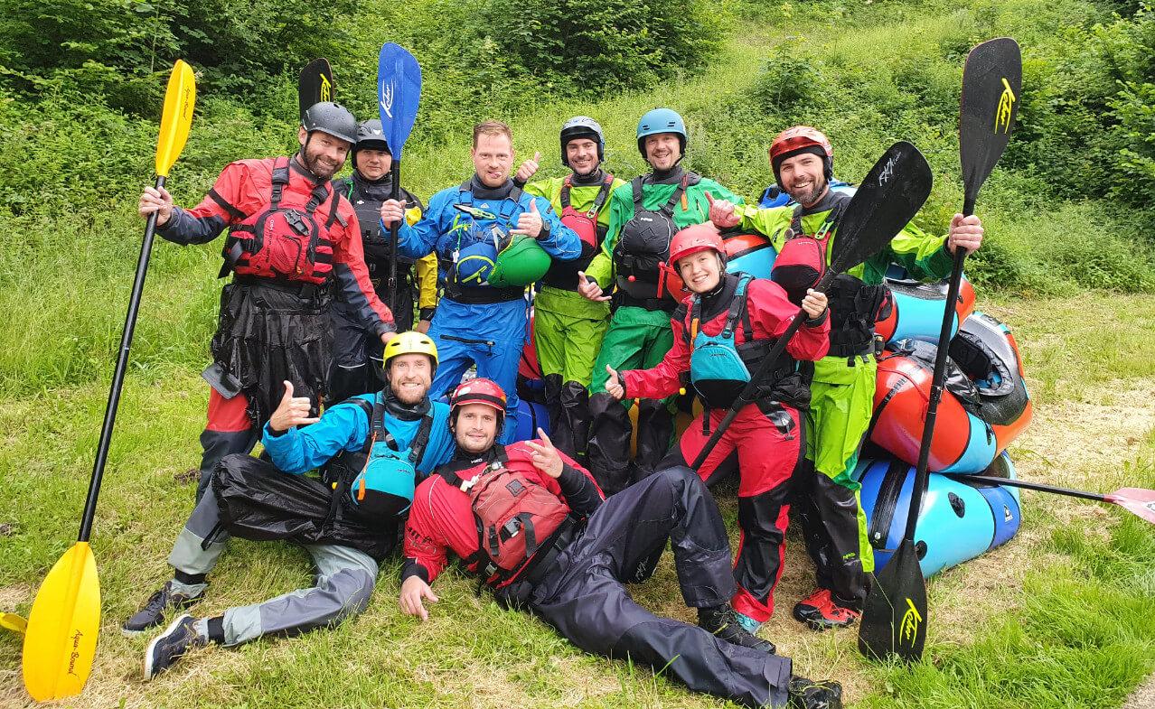 Packraft Wildwasser-Rettungskurs – Unser Team