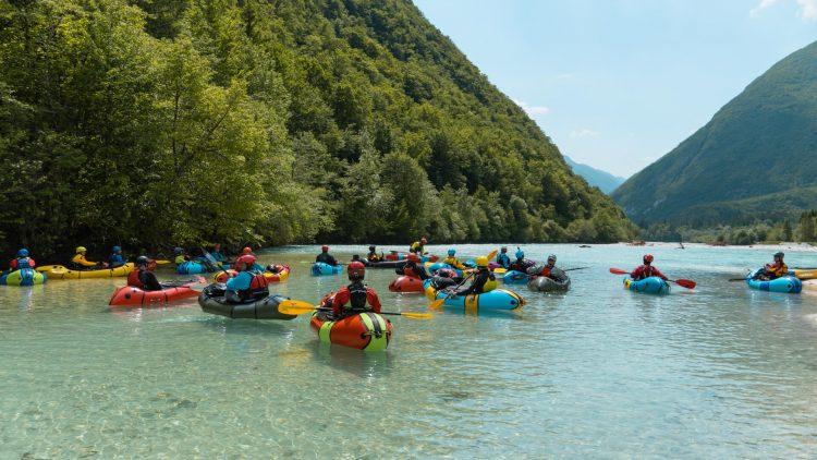 European Packrafting Meetup 2021 an der Soca in Slowenien