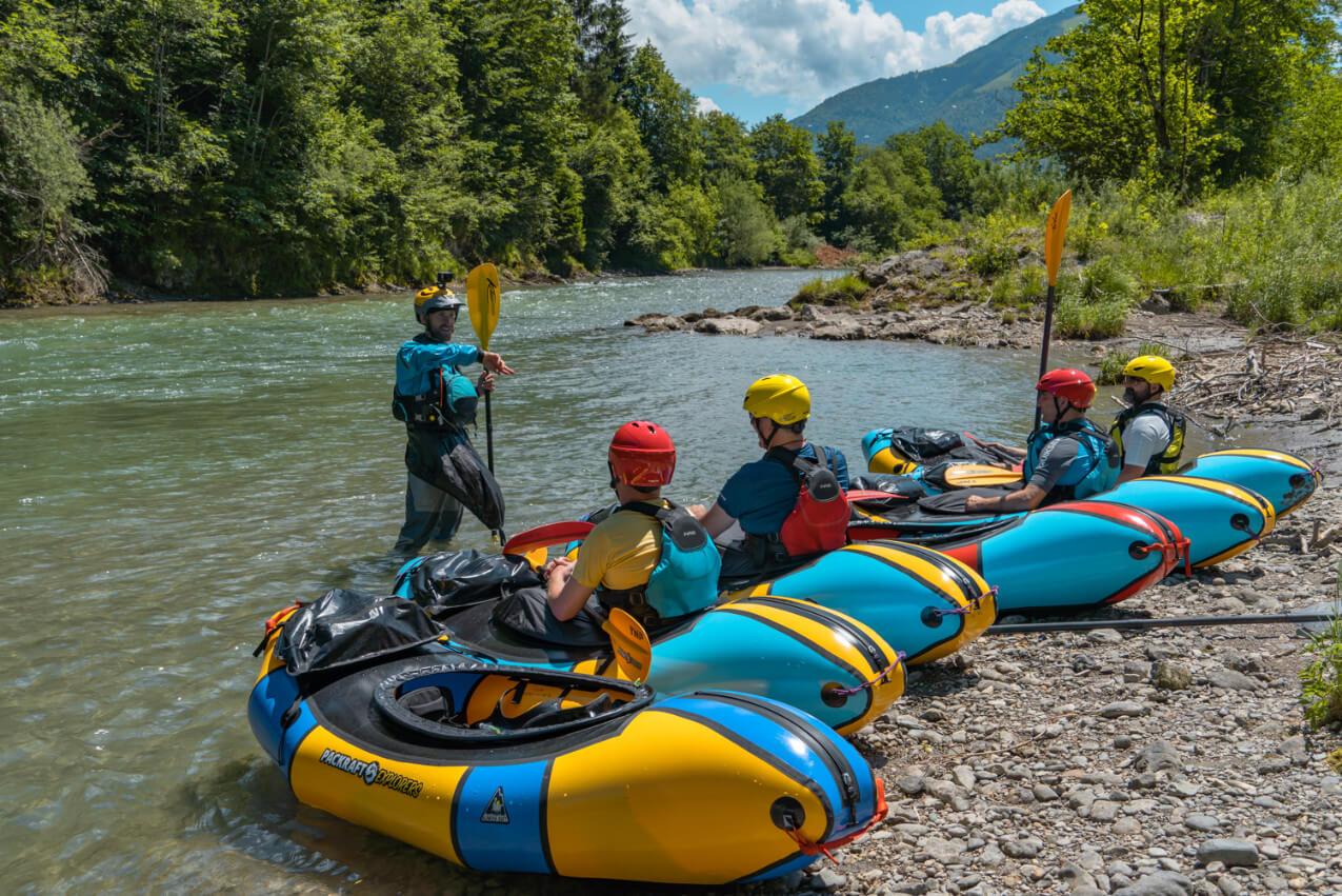 Packraftkurs für Einsteiger   Tiroler Ache
