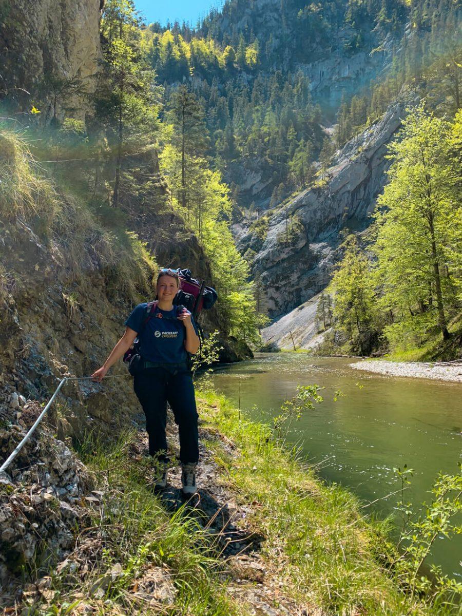 Wandern und Packrafting im Klausgraben, Salza